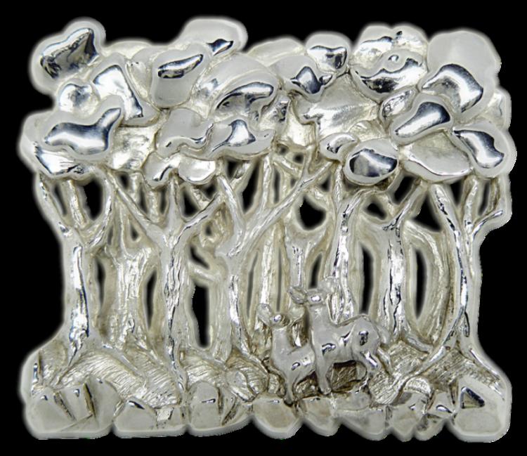 Broche artesanal en plata de El Bosque Acogedor