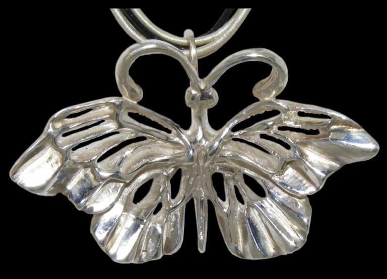 Broche Plata Mariposa