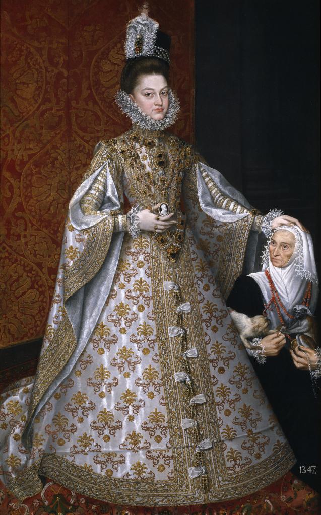 Alonso Sánchez Coello. La Isabel Clara Eugenia y Magdalena Ruiz.
