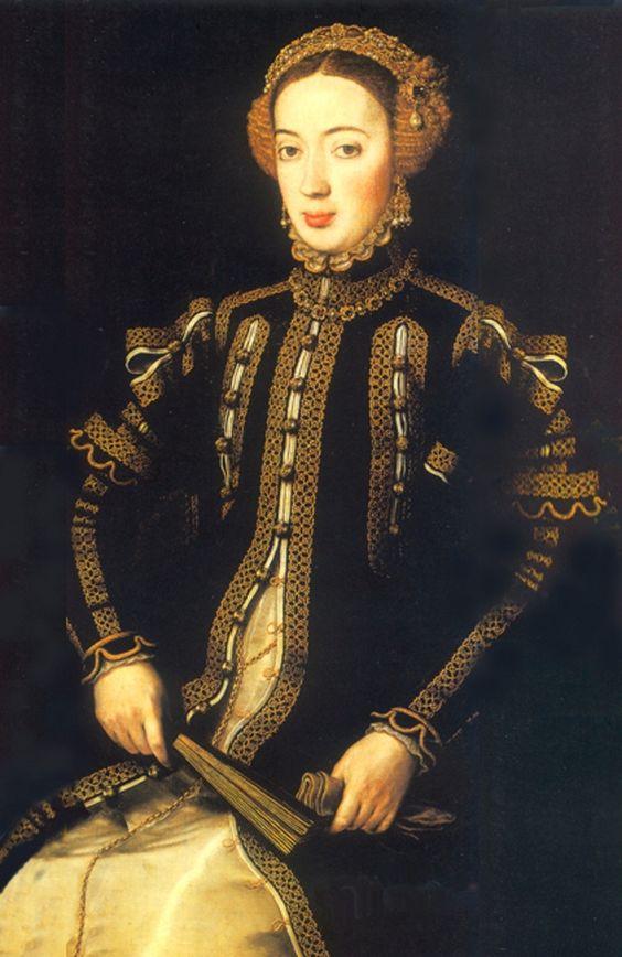 ANTONIO MORO RETRATO DE MARIA INFANTA DE PORTUGAL HIJA DE JUAN III Y CATALINA DE AUSTRIA