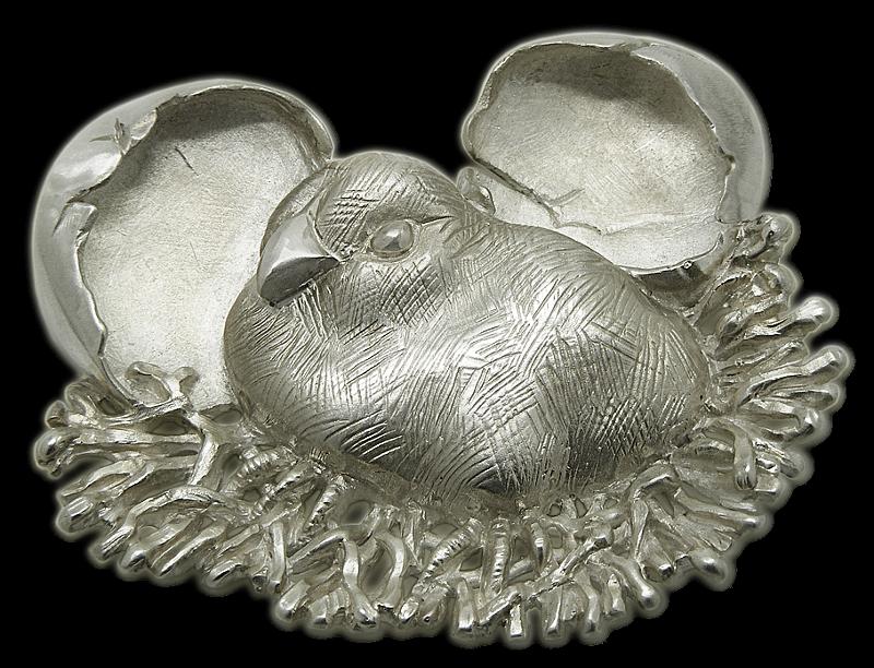Broche artesanal en plata de El Nacimiento