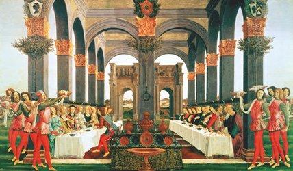 El banquete de bodas - Sandro Botticelli,